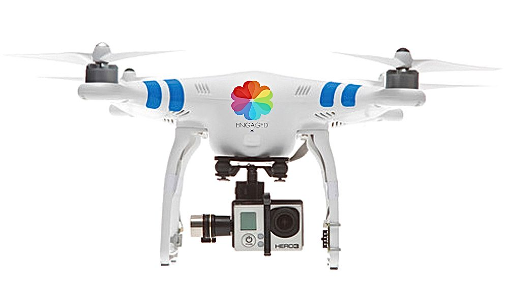 Engaged Films, professional videographer high quality equipment aerial video